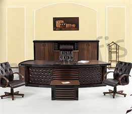 King Wooden Executive Desk