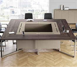 Gloss Square Meeting Table